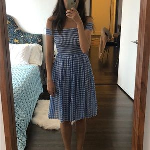 Jcrew Blue gingham dress
